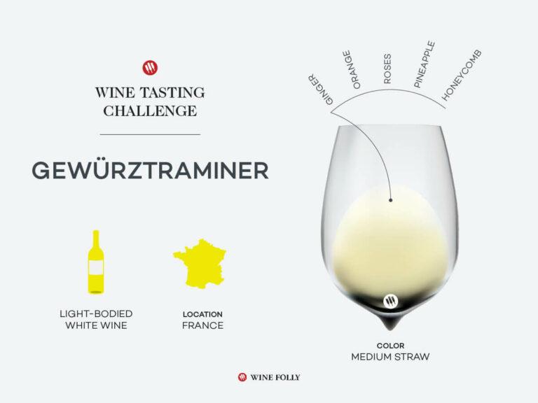 Glass of French Gewürztraminer