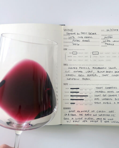 Great Notes Make Great Wine Knowledge