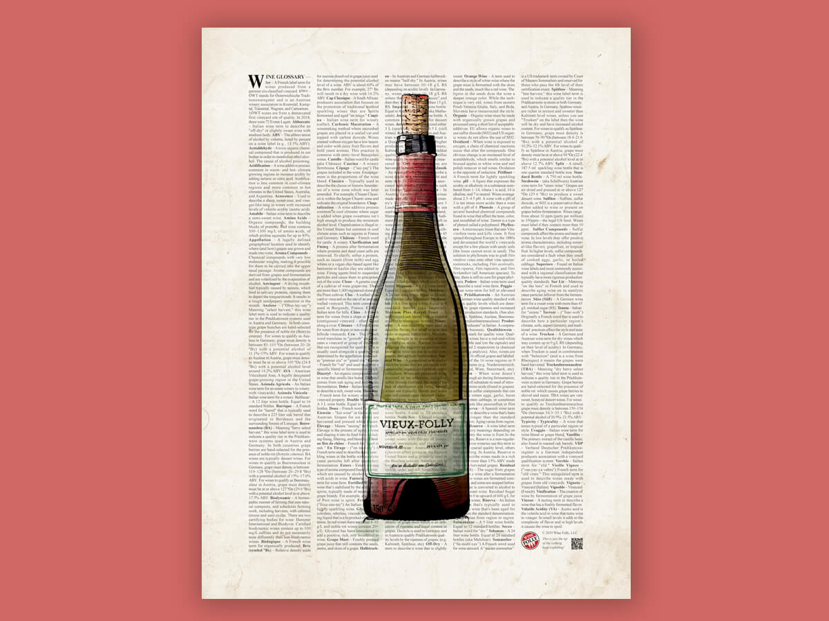 wine terms poster by Wine Folly