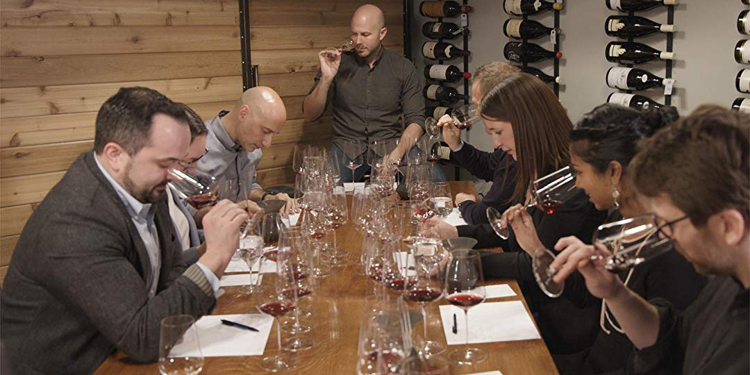 A wine tasting during Somm 3